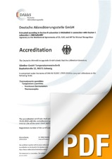 Certification du laboratoire de calibrage